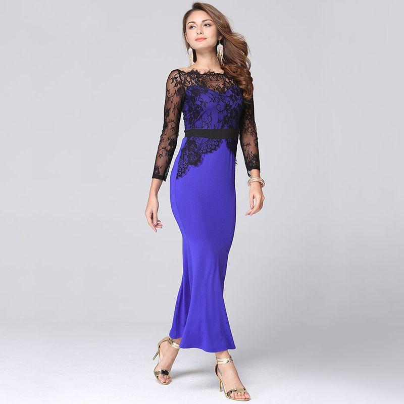 2017 Spring Summer Vintage Women Sexy Lace Slim Dress Plus Size