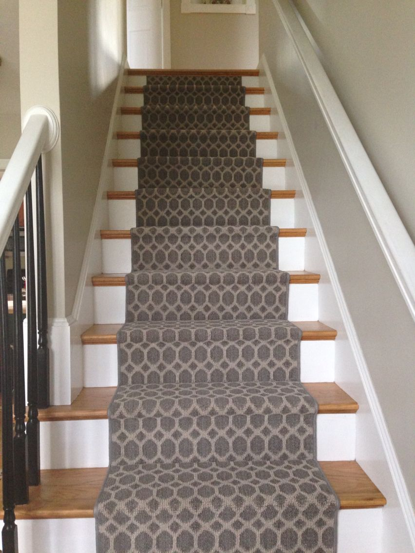 Geometric Stairs Geometric Staircase Melbourne: My Tuftex Geometric Modern Stair Runner. Hoping No More