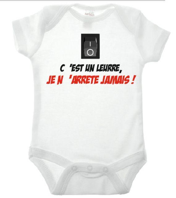 Bio Babybody Baby Body Avec Dicton dormir-sous-vêtements Manches Longues Body