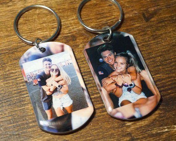Keychain - 2 Custom Photo Keychains Use YOUR Photos, photo key chain, custom keychain photo, personalized keychain with picture