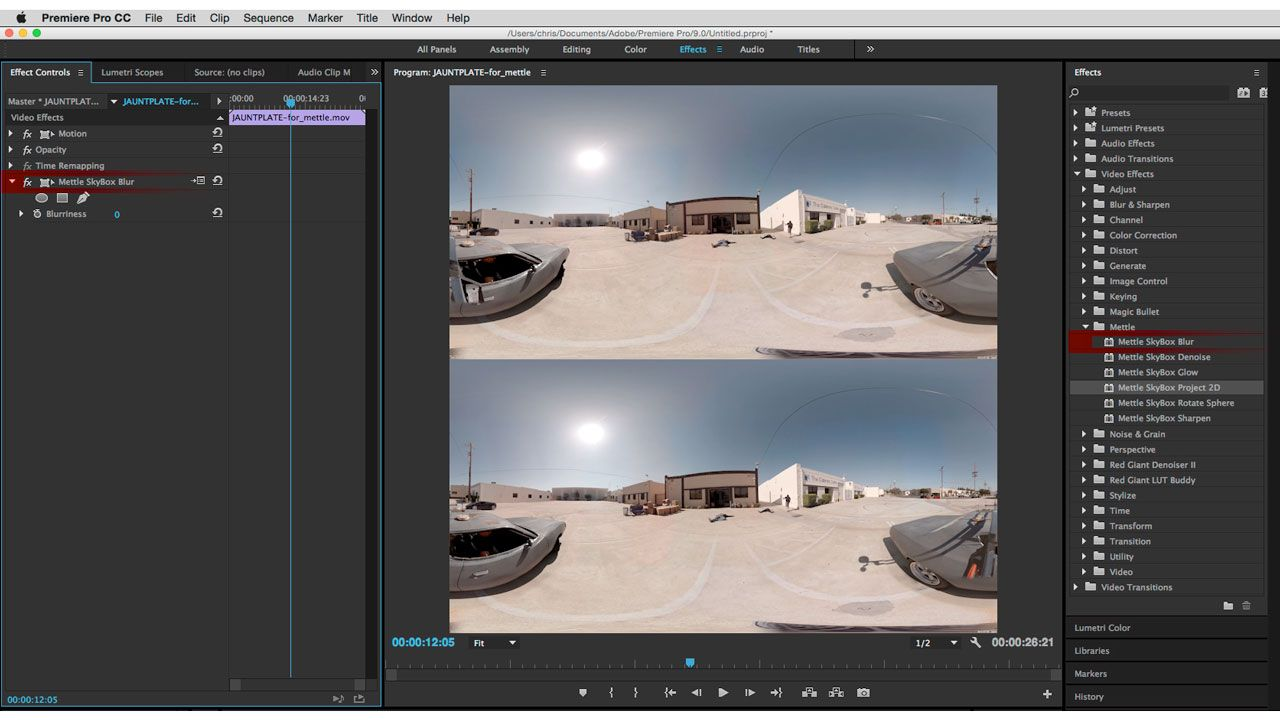 Mettle Skybox 360/VR Tools for Premiere Pro | After Effects