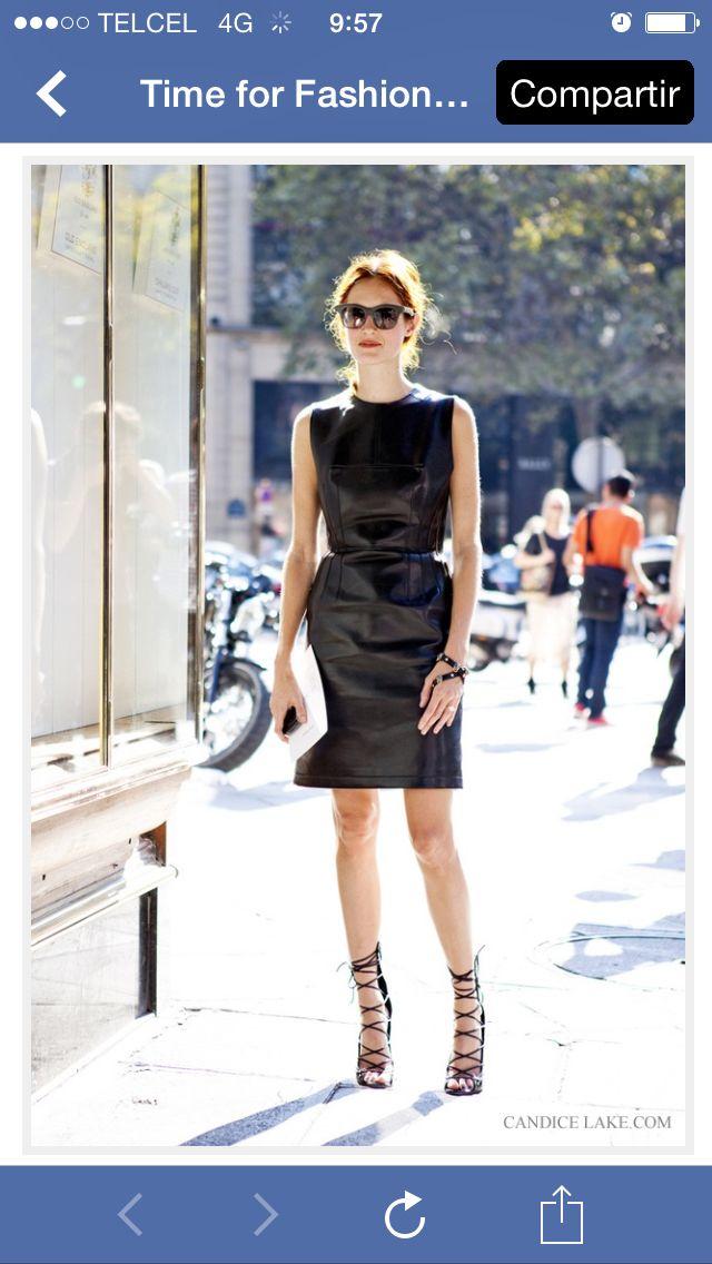 Leather dress ll