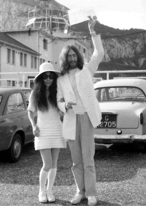 Image result for john lennon and yoko ono wedding