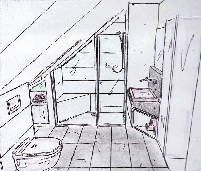 badgestalten duschen unter der schr ge wohnideen badezimmer bad und badezimmer dachgeschoss. Black Bedroom Furniture Sets. Home Design Ideas