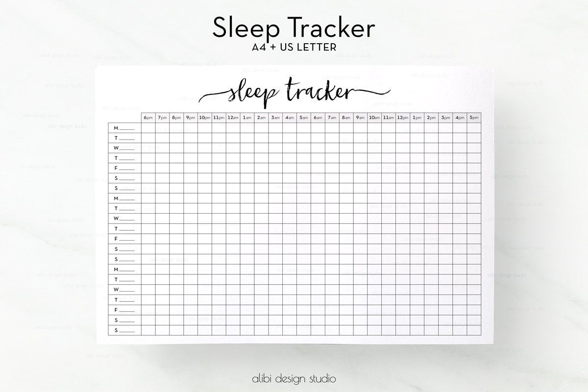 picture regarding Sleep Log Printable known as Rest Tracker, A4 Printable, Snooze Magazine, Rest Planner