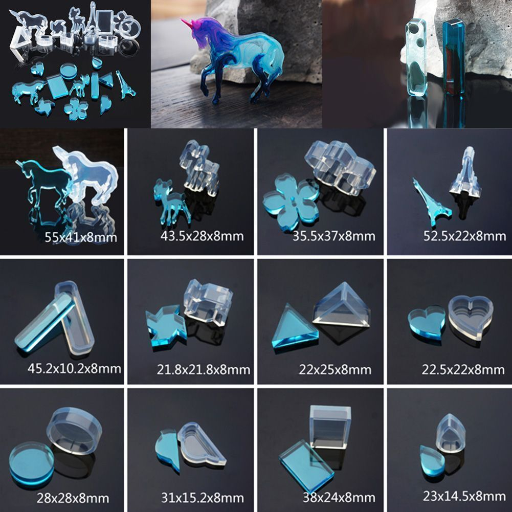Details about Silicone Resin Casting Cute Pendant Mold