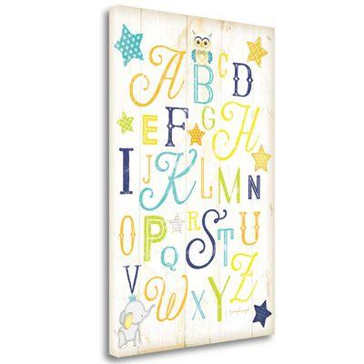 Tangletown Fine Art 'ABC' by Jennifer Pugh Textual Art on Wrapped Canvas