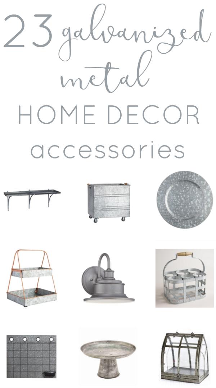 Decor Trend- Galvanized Metal Accessories | Metals, DIY ideas and ...