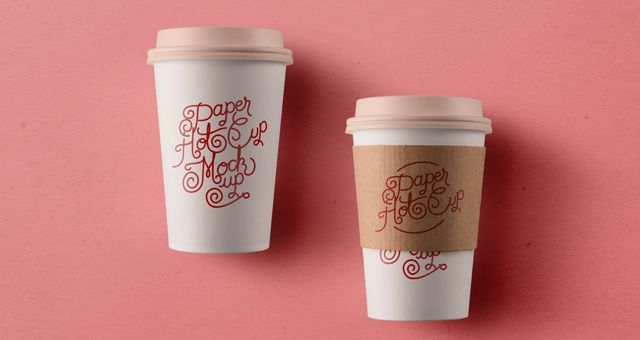 Psd Paper Hot Cup Template Vol3 | Psd Mock Up Templates