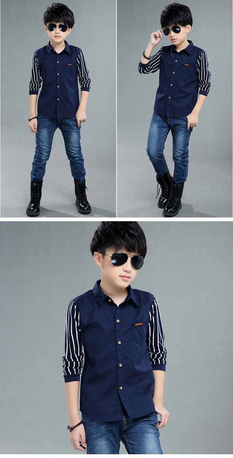 a7ddcbc5feb3 Children s Wear Boys Spring Children s Long Sleeve Shirts Children s ...