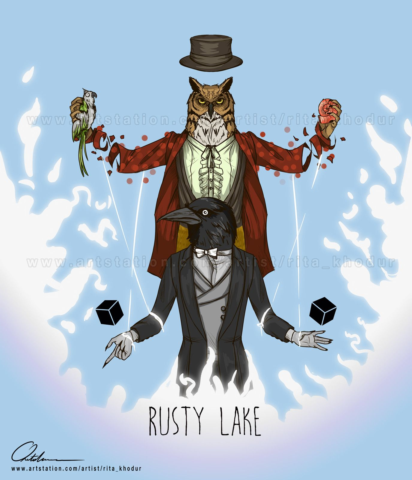 Rusty Lake Fanart, Rita Khodur on ArtStation at https://www.artstation.com/artwork/APg3y