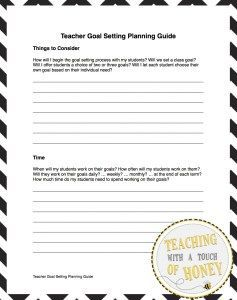 Download your free copy of the teacher planning guide. Pre-plan how to support your students during the goal setting process.