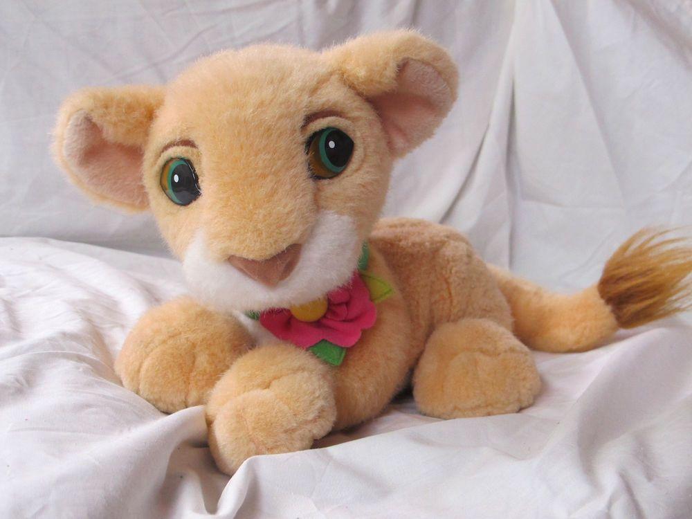 Walt Disney 1993 The Lion King Purring Baby Cub Nala Plush By Mattel