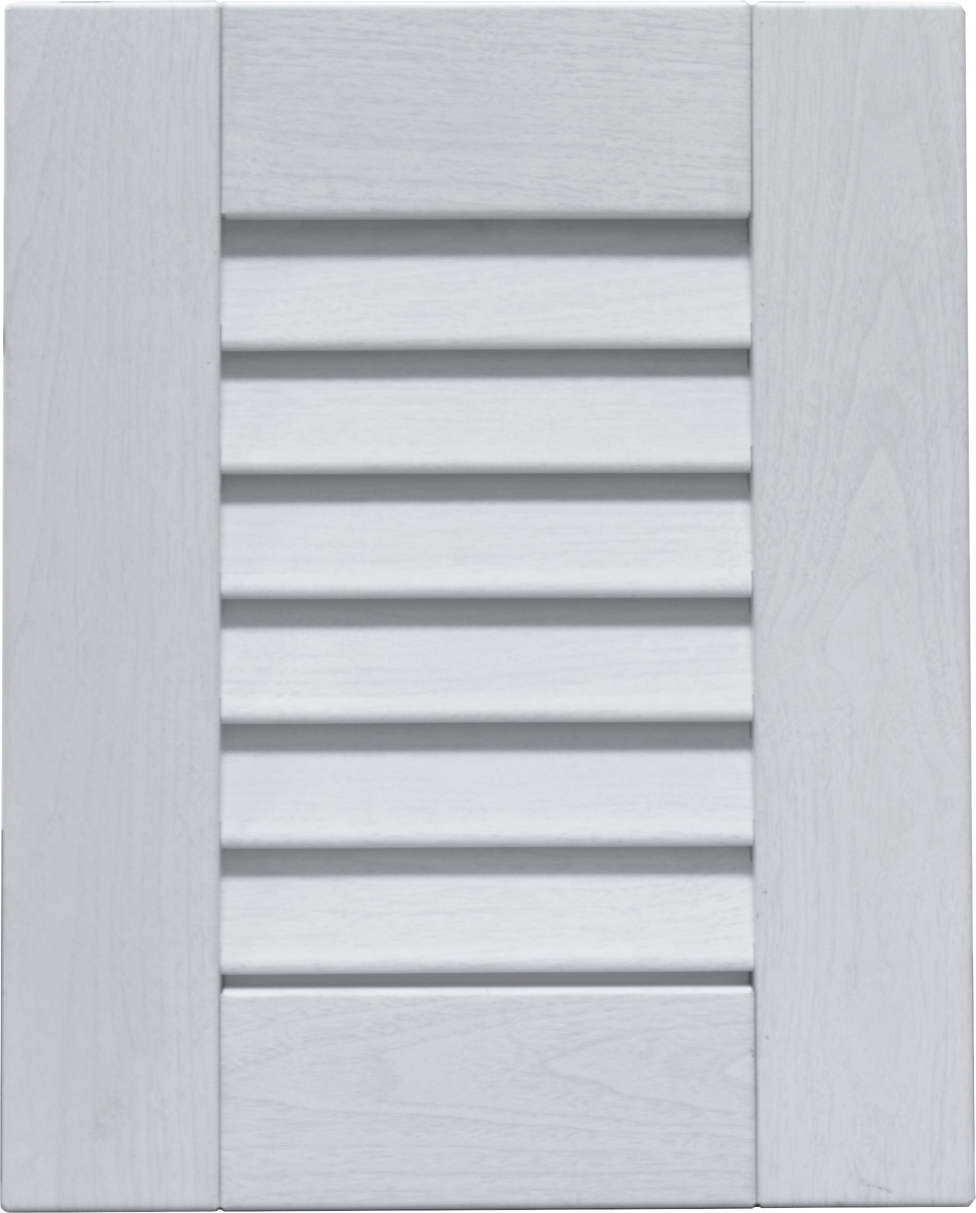 Louver Door Style In White Washed Wood Woodgrain Powder Coat