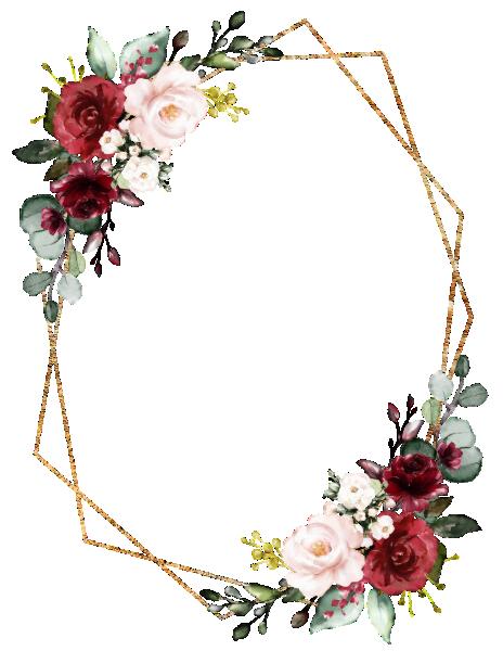 Romantic Watercolor Burgundy Floral Geometric Invitation Zazzle Com Pola Bunga Kartu Pernikahan Kartu Bunga