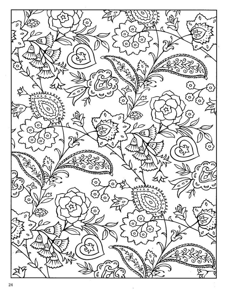 Dover Paisley Designs Coloring Book Art Worksheets Coloring