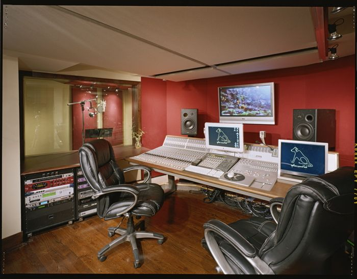 Stupendous Recording Studio Modern Designs With Red And Cream Theme Interior Largest Home Design Picture Inspirations Pitcheantrous