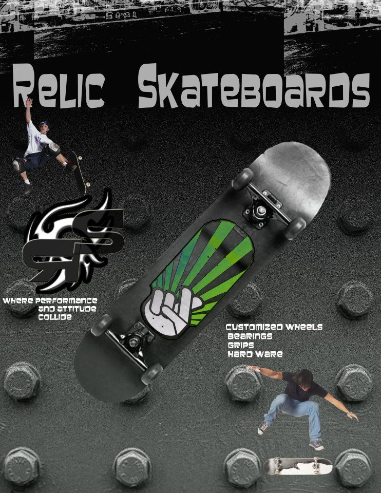 Relic Skateboard Magazine Project Portfolio design