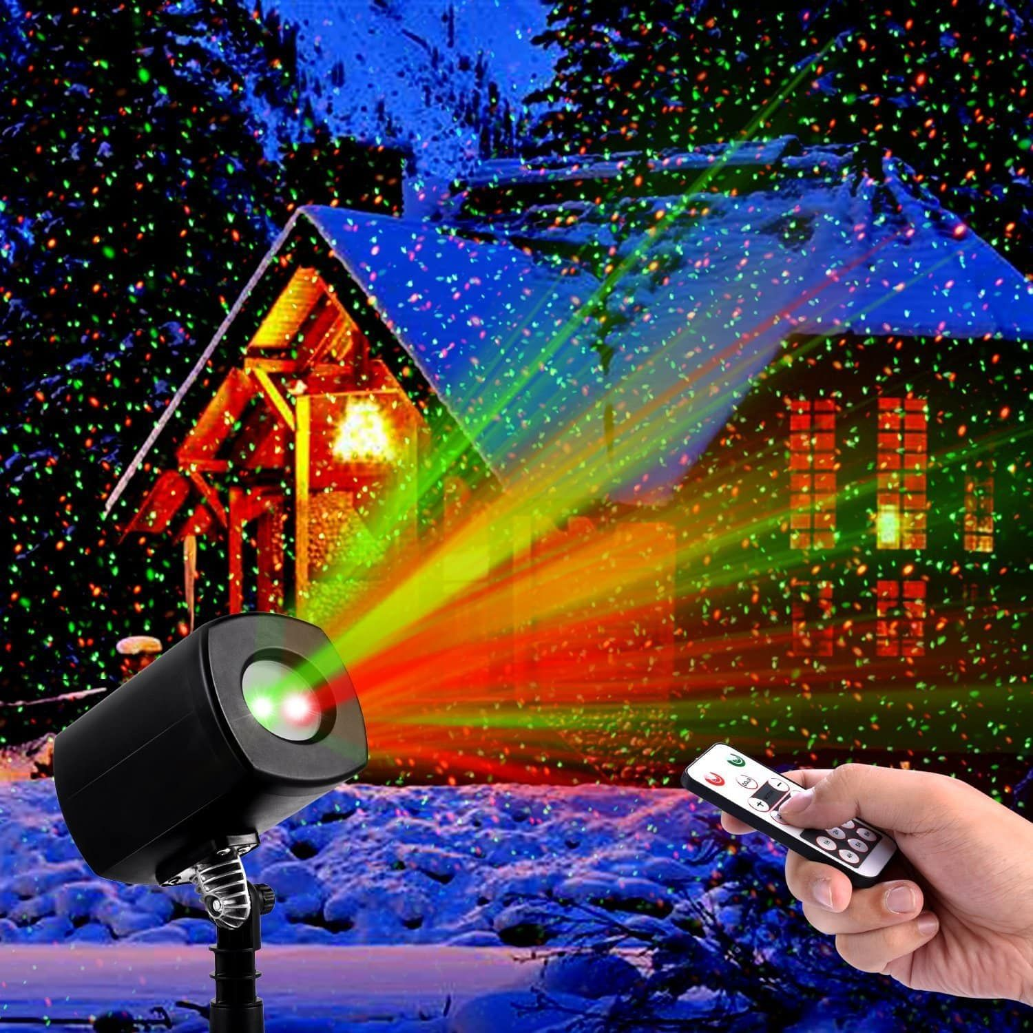 Clustars Laser Christmas Lights Waterproof Indoor and Outdoor
