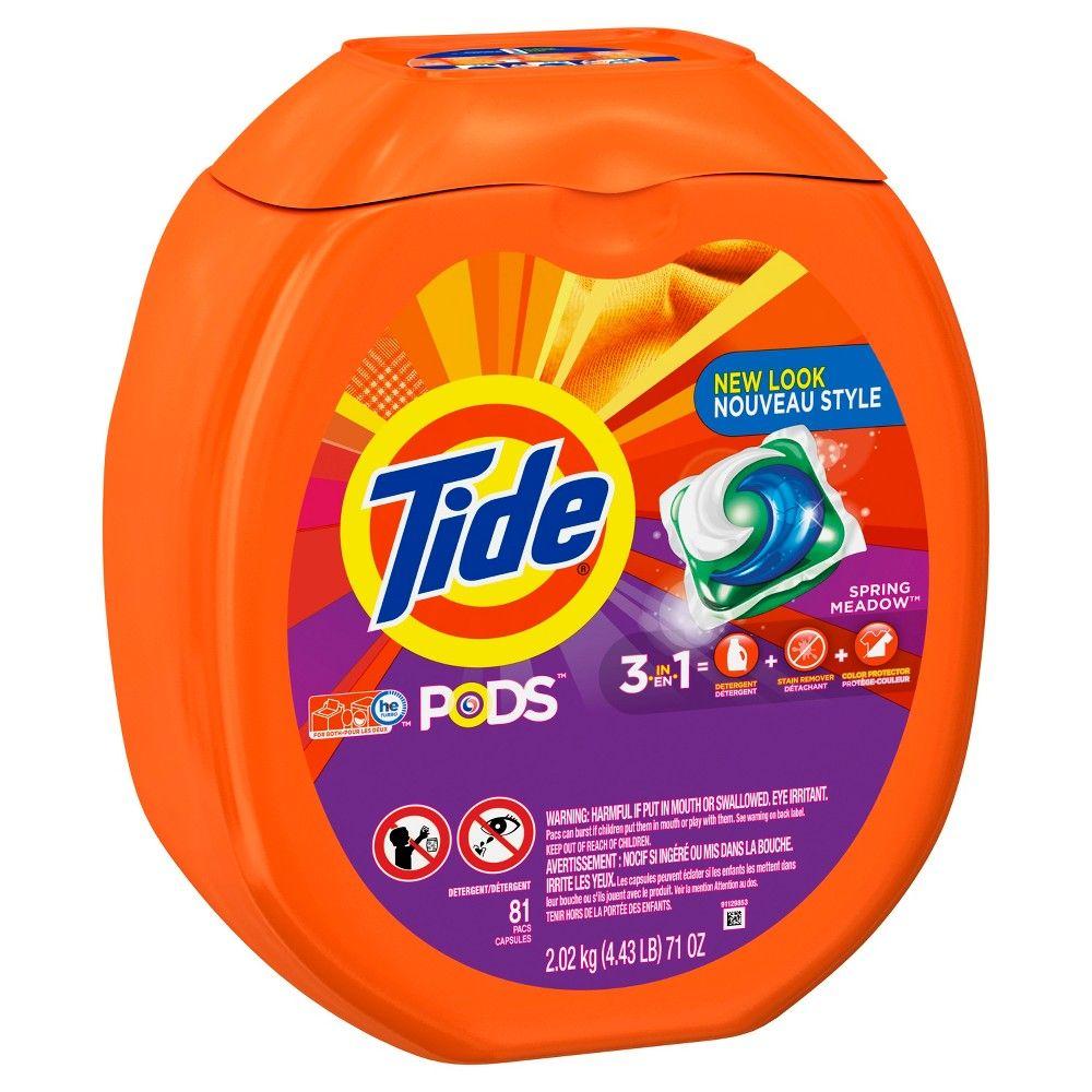 Tide Pods Spring Meadow Liquid Laundry Detergent 81 Ct 71floz