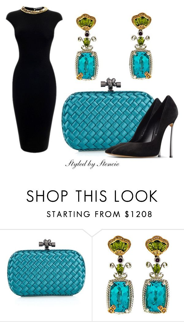 """""""The Jewel"""" by stencie on Polyvore featuring Bottega Veneta, Alexander McQueen and Casadei"""