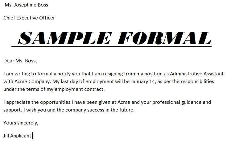 basic letters of resignation - Google Search Workplace Info - employment letter example
