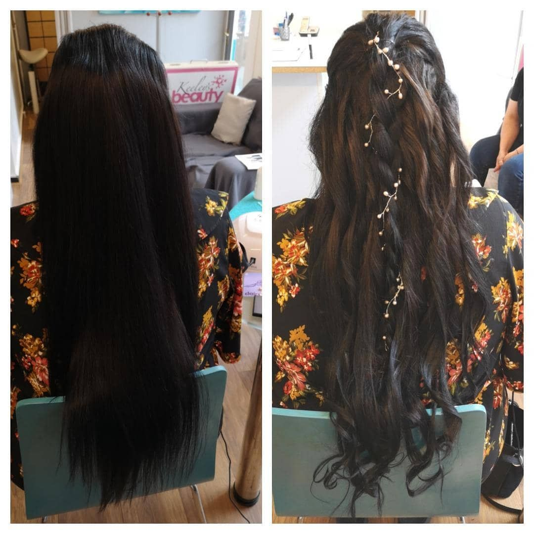 Before and after wedding hair hairstyles curls weddinghair