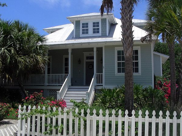 Old Florida Style Architecture | Florida Beach House: A Blend Of Cracker,  Charleston And Caribbean .