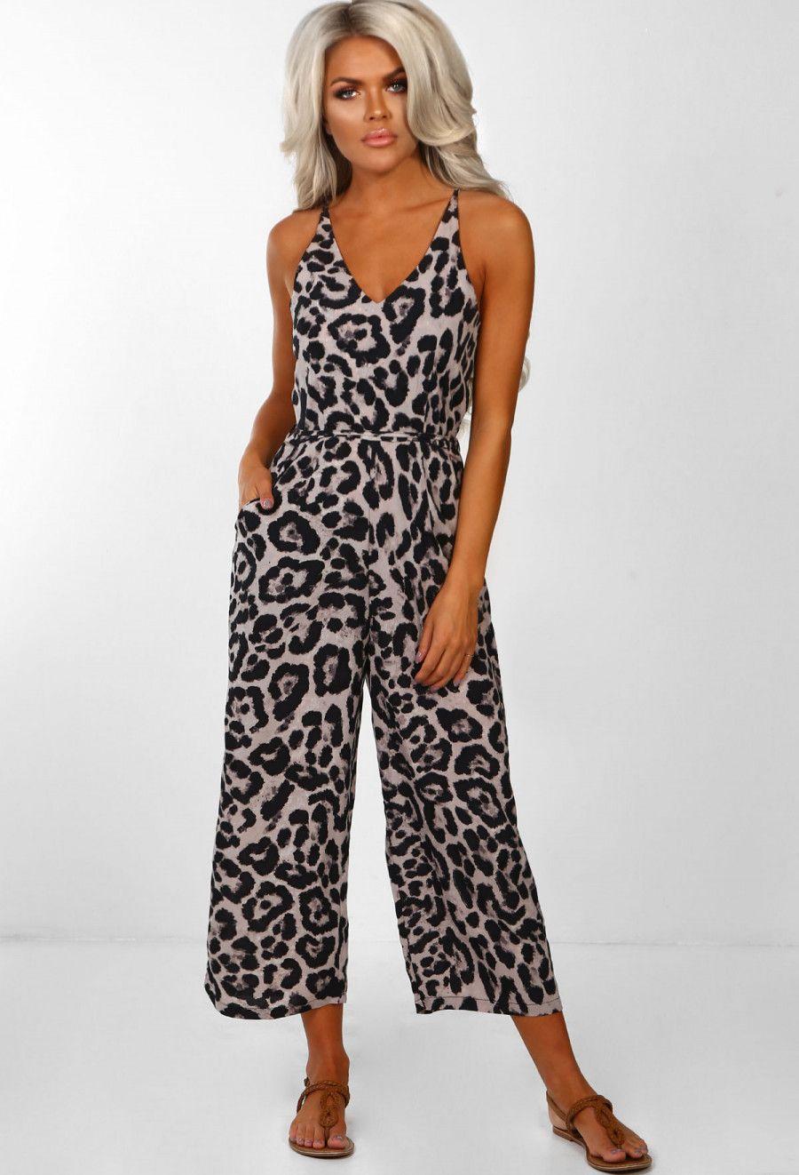 b02529178e So Fierce Multi Leopard Print Culotte Jumpsuit