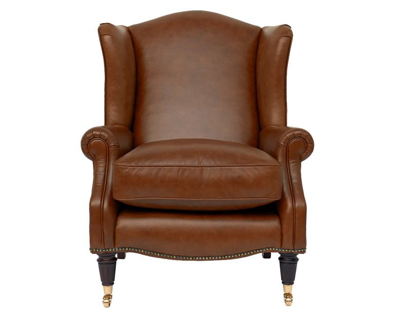 Laura Ashley Southwold armchair | Leather wing chair ...