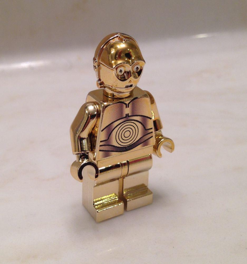 lego custom Lego Boba Fett gold chrome star wars minifigure