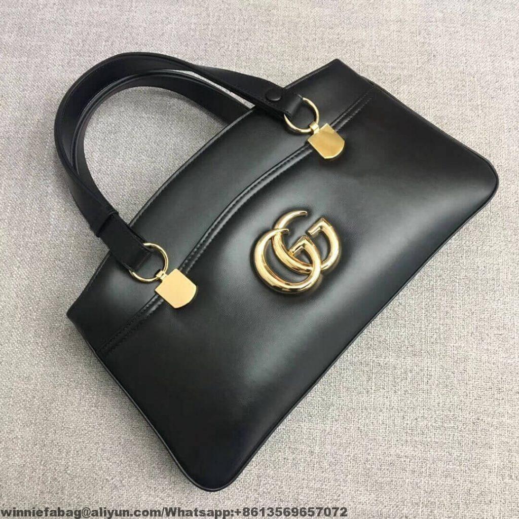 73b11544127 Gucci Leather Arli Large Top Handle Bag 550130 2019