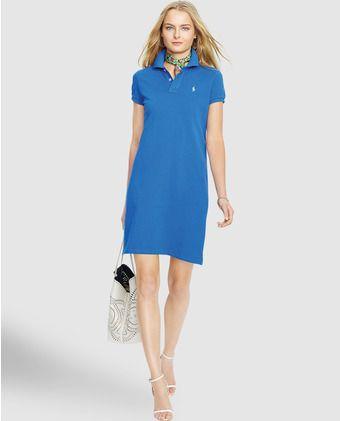Vestido corto de mujer Polo Ralph Lauren con cuello tipo polo 6f23c49c6816