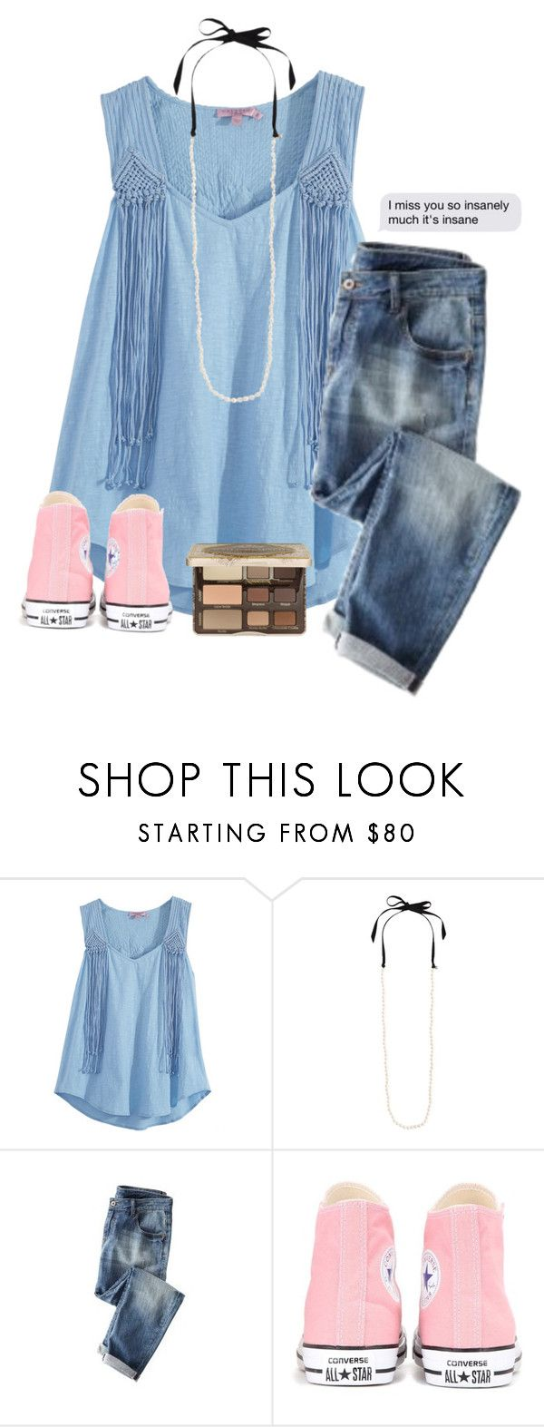 """""""Well this is something different"""" by savanahe ❤ liked on Polyvore featuring Calypso St. Barth, J.Crew, Wrap, Converse and Too Faced Cosmetics"""