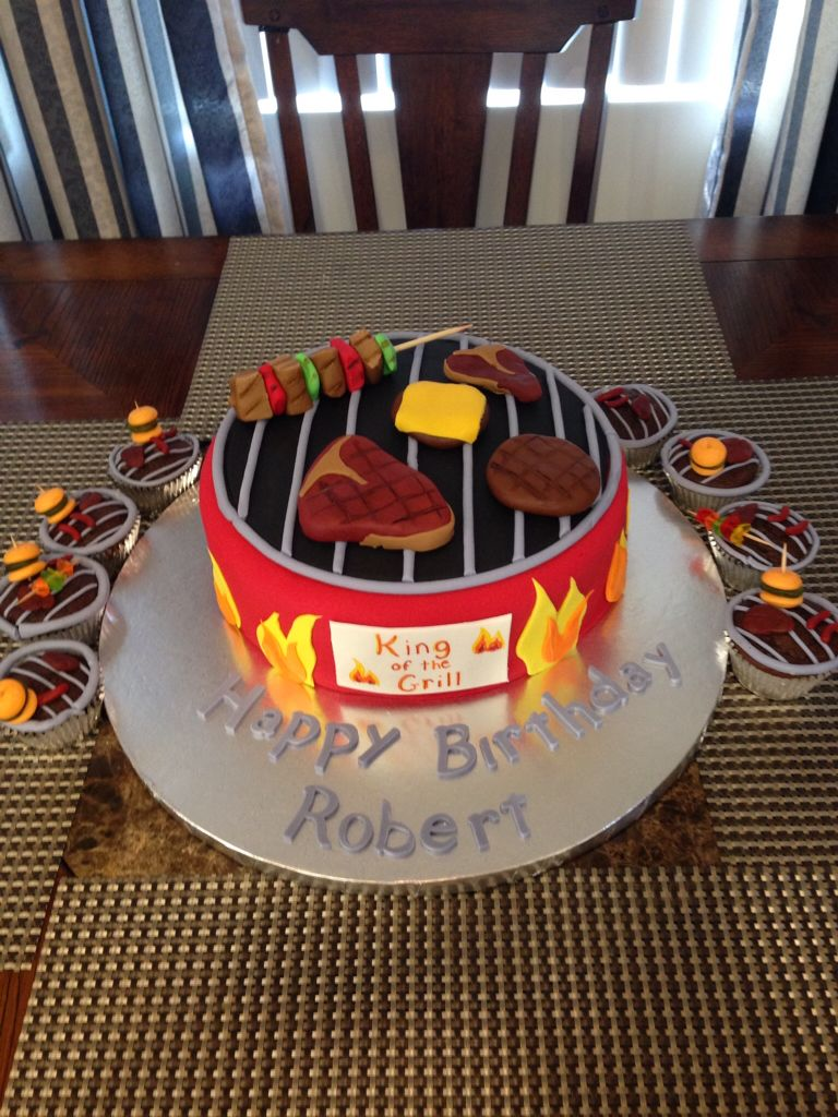 Barbecue Grill Cake And Cupcakes By I Love The Cake Los Angeles