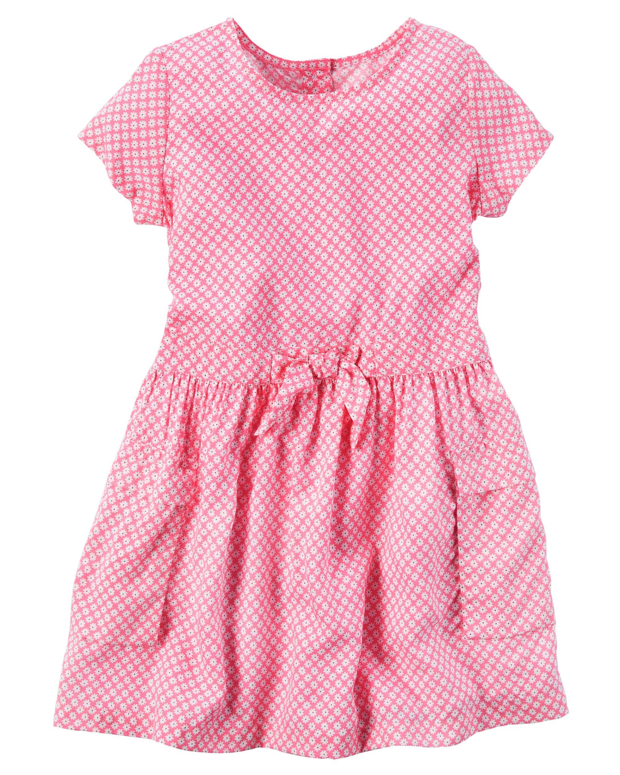 48c49336 Printed Patch Pocket Dress | Baby checklist | Girls fashion clothes ...