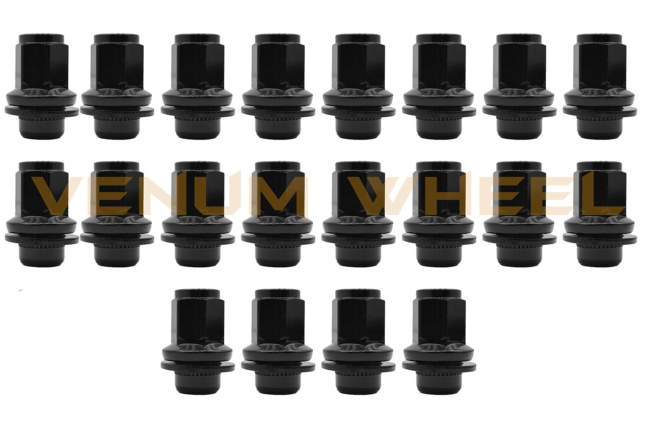 Sickspeed 16 Black//Polished Spiked Aluminum 60Mm Extended Tuner Lug Nuts Wheels 12X1.5 L16 for Mazda Miata