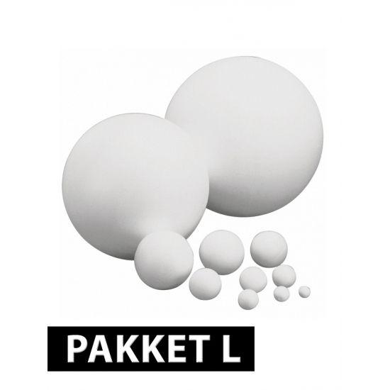 Knutsel piepschuim ballen 10 st  Piepschuim ballen pakket groot. Het pakket bestaat uit 10 ballen in de volgende formaten: 5 7 10 12 en 15 cm. Van iedere formaat zitten er twee ballen in het pakket. De ballen van piepschuim kunnen bijvoorbeeld worden gebruikt om te beschilderen en versieren.  Dit artikel bestaat uit: 2x Piepschuim bal 5 cm 2x Piepschuim bal 7 cm 2x Piepschuim bal 15 cm 2x Piepschuim bal 12 cm 2x Piepschuim bal 10 cm  EUR 10.50  Meer informatie