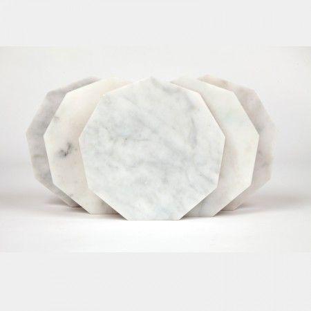 Fjordflower White Trivets Marmol Y Granito Mesas Con Marmol Disenos De Unas