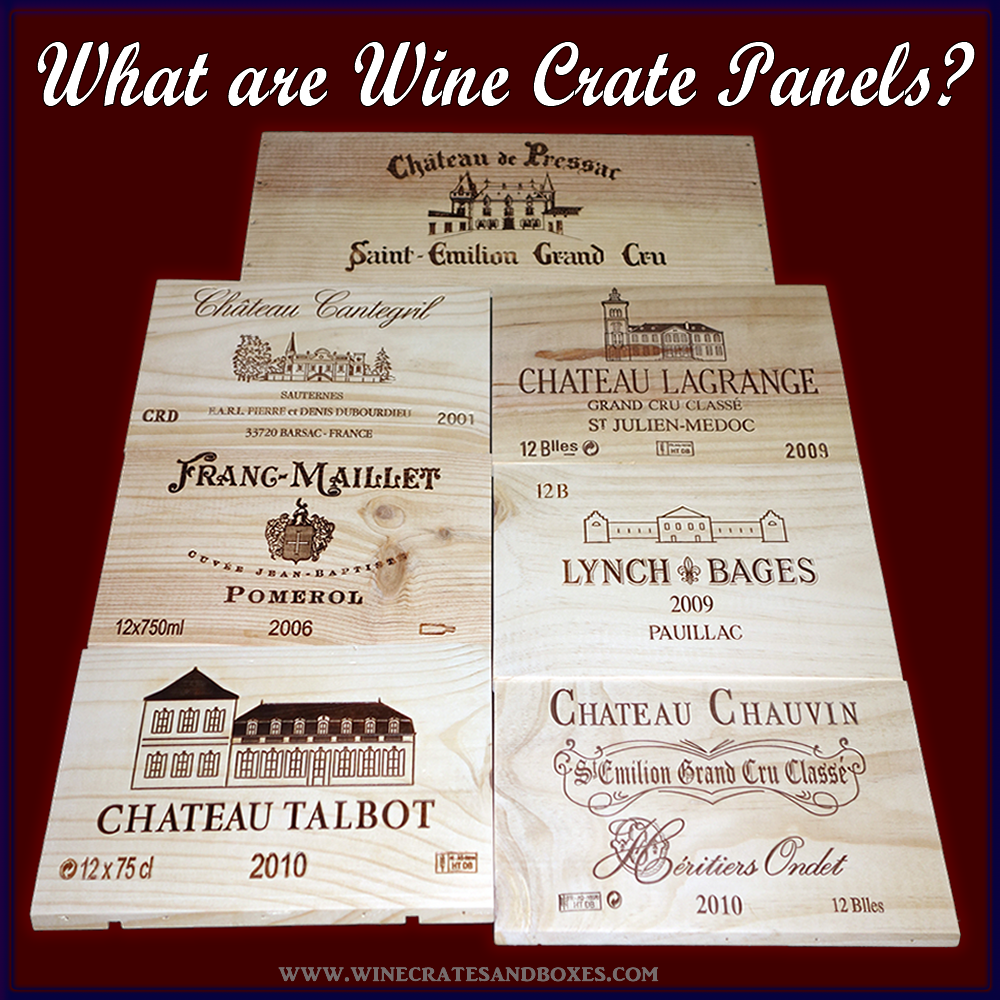 Wine panels are the sides of original wooden wine crates and boxes. Once removed they become like wood tiles that can be used to cover t...