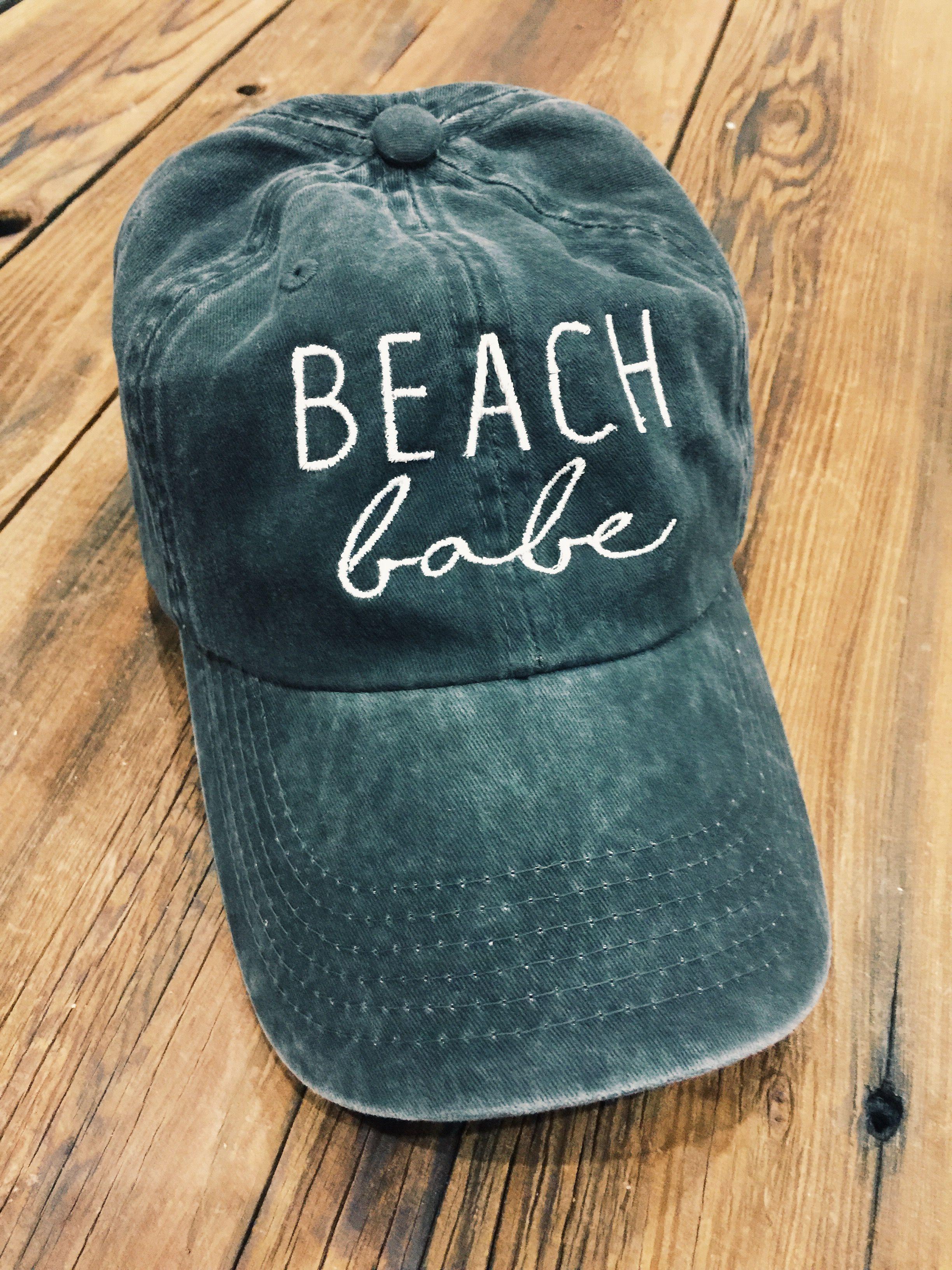 760a8855a Women's Beach Baseball Hat, Dad Hat Style Beach Hat, Beach Babe Hat ...