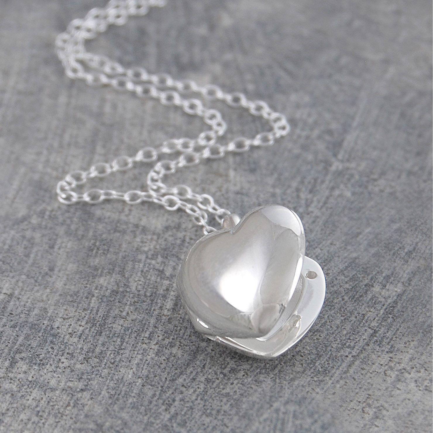 f442e59a31e864 Otis Jaxon Sterling Silver Polished Heart Locket Pendant   ACHICA ...
