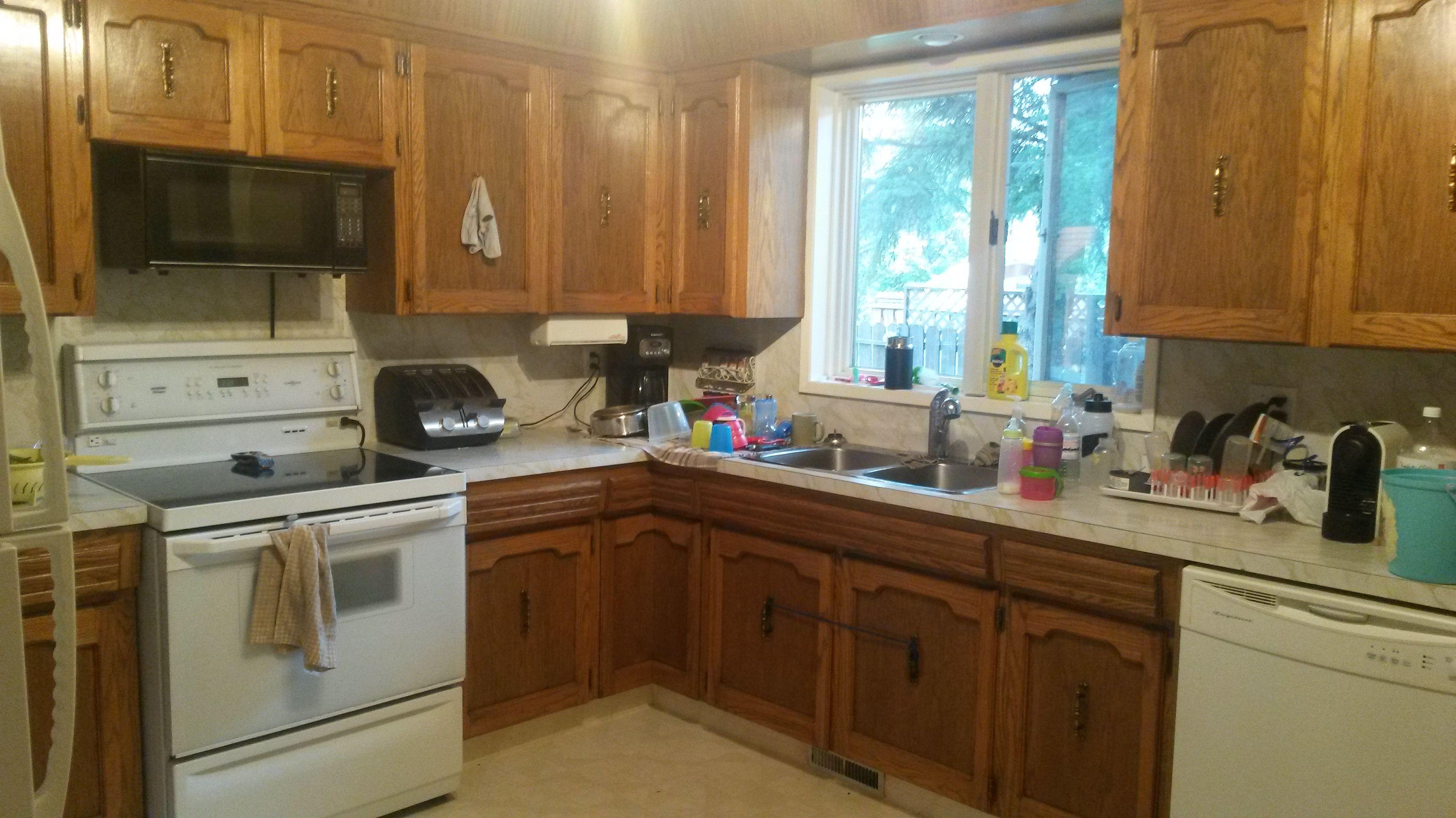 This is my dark oak kitchen before.