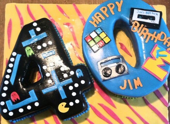 40th birthday cake - 80's theme