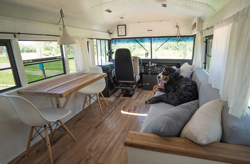 Expedition Happiness Home On A School Bus Desire To Inspire Bus Remodel Converted School Bus Bus Living