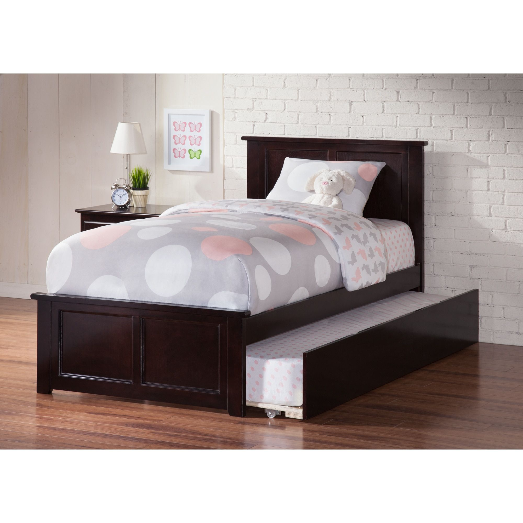 atlantic madison espresso twin bed with matching footboard and urban