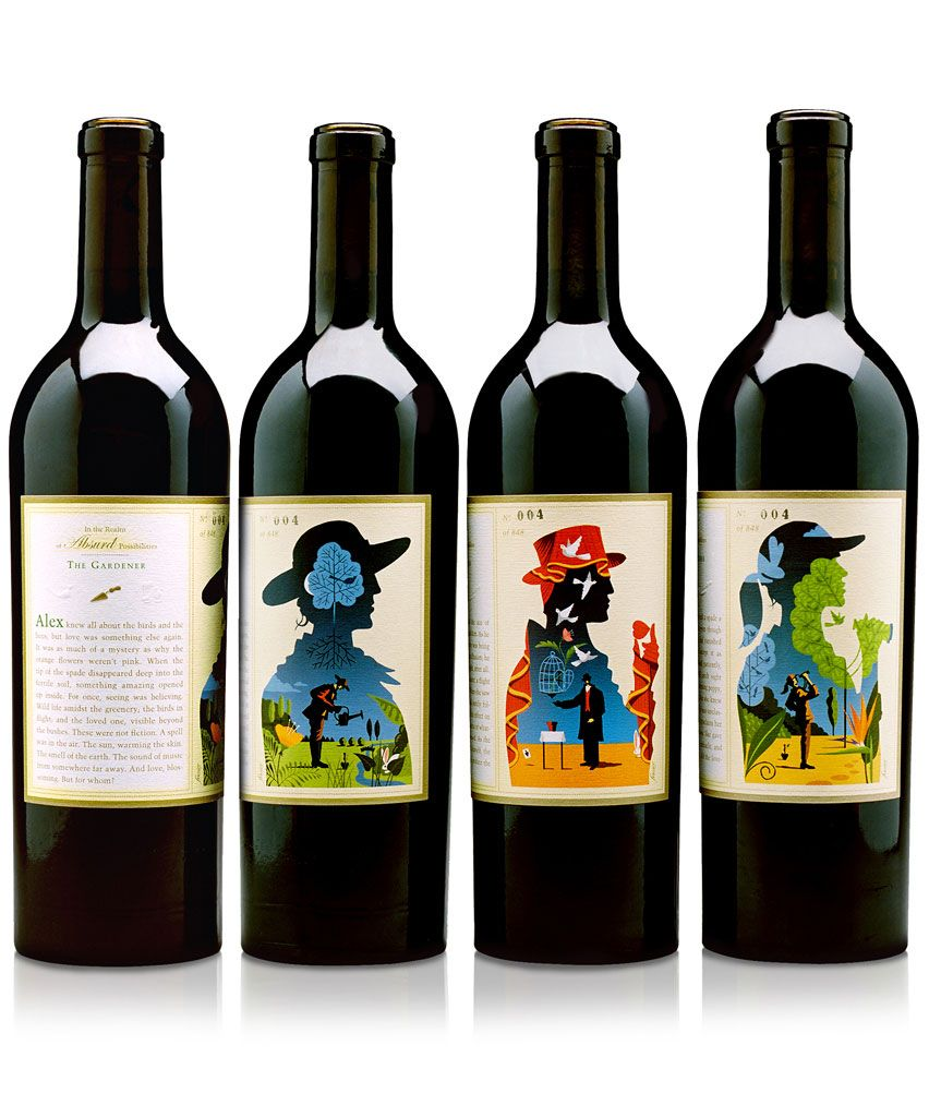 Absurd Wine package design  Craig Frazier Studio / Work / In Context