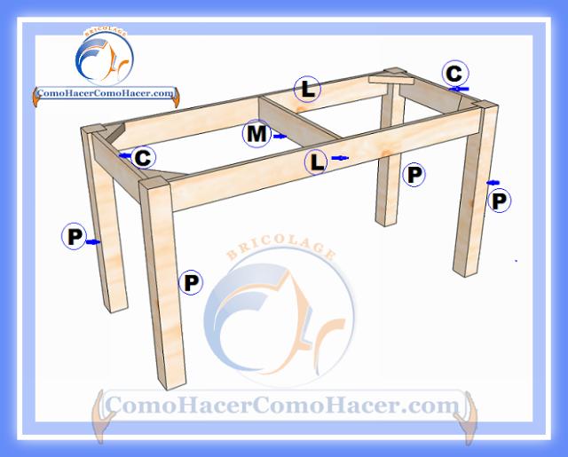 Plano de mesa de madera medidas web del bricolaje dise o for Planos de mesas de madera pdf