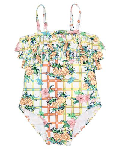 RIP CURL TOTS GIRLS PINA COLADA ONE PIECE - WHITE