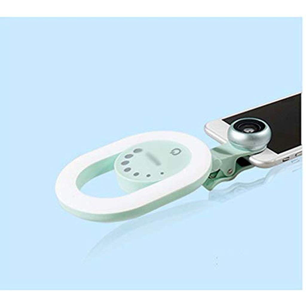 Zxf Oval Led Licht For Telefon Geben Sie Bitte Weitwinkel Makro Objektiv Touchscreen Anpassen Um Die Schonheit Licht Im Fre Led Licht Weitwinkel Makro Objektiv